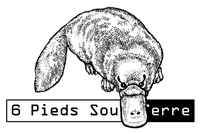 logo éditions 6 pieds sous terre
