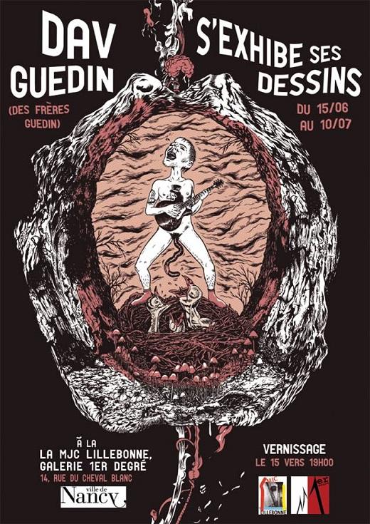 Expo : Dav Guedin s'exhibe ses dessins
