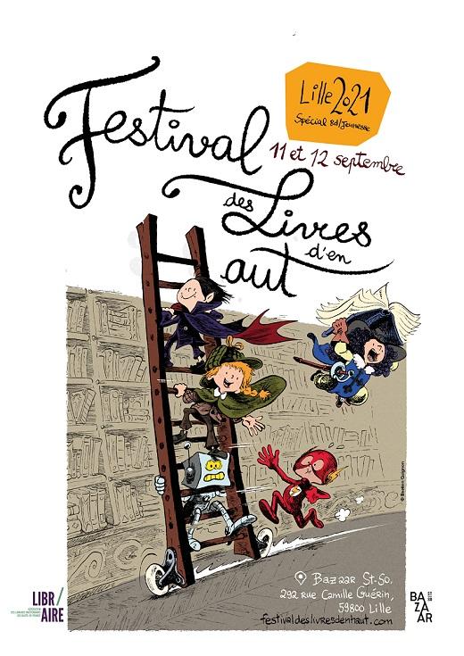 Affiche du 1er festival des livres d'en haut