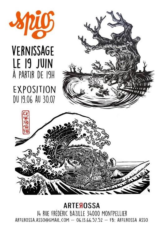 Expo : Linogravures de Spig