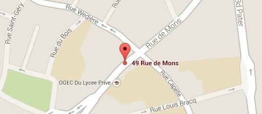 Plan : Librairie Le Comptoir des Bulles